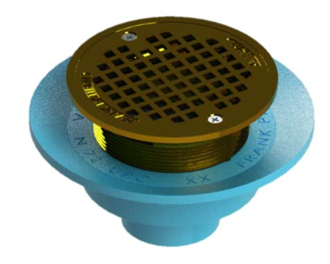 "Frank Pattern™ 7"" Floor Drains Without Membrane Clamp"