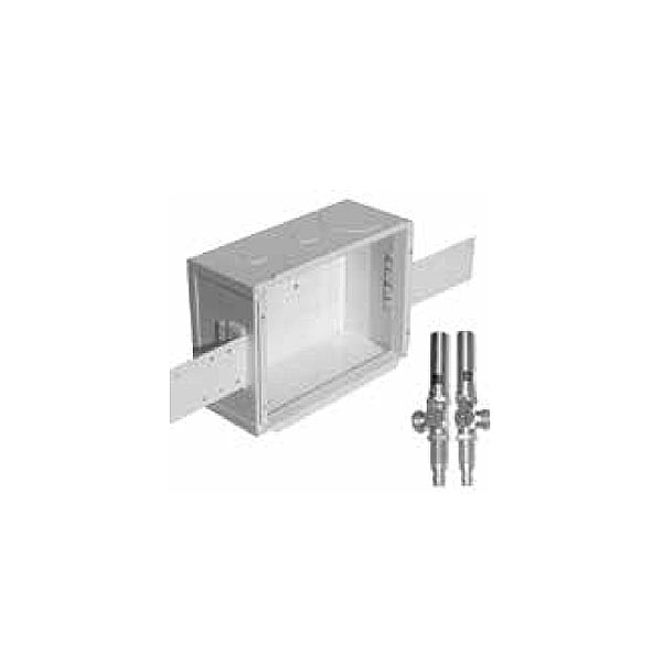 Metal Washing Machine Outlet Box With Water Hammer Arresters