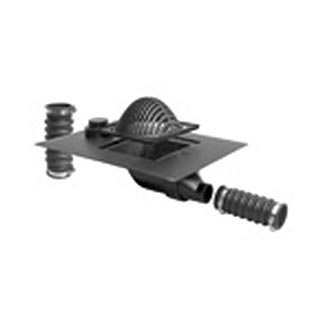 Plastic Roof Drain with Side-Outlet & Overflow