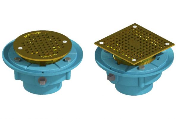 "Frank Pattern™ 7"" Floor Drains With Nickle Bronze Strainer & Membrane Clamp"