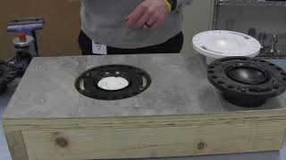 Pop Up closet flange test cap removal
